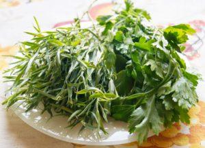 Масло зеленое ароматическое эстрагон