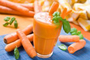 Лечение гастрита морковным соком