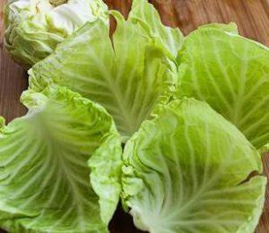 лечение кожи капустными листьями