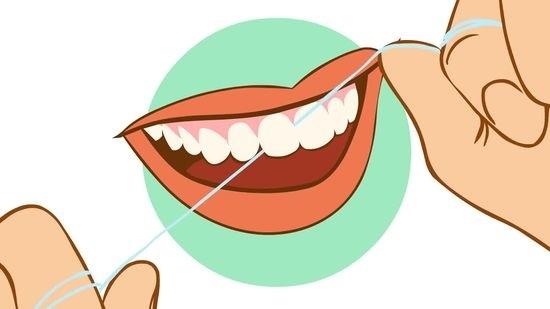 Уход за деснами и зубами зубная нить
