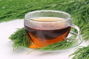 Чай с хвощом от отеков