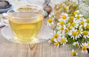 из цветов ромашки Чай успокаивающий