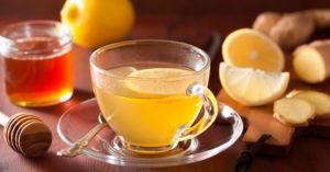 чай с медом и имбирем от кашля