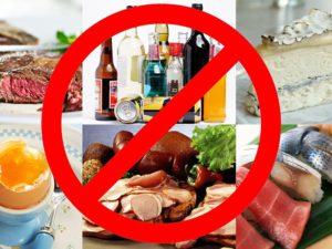 Нельзя есть при отравлении