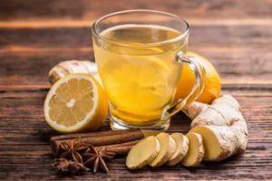 при отравлении Чай из имбиря